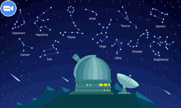 observatory constellation concept cartoon style 98402 1578